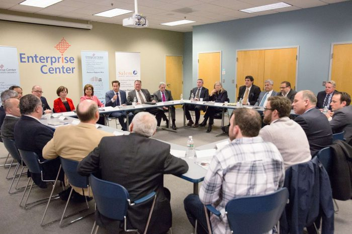 A Board Meeting of Leaders at the North Shore Alliance at The Enterprise Center on Salem State's campus
